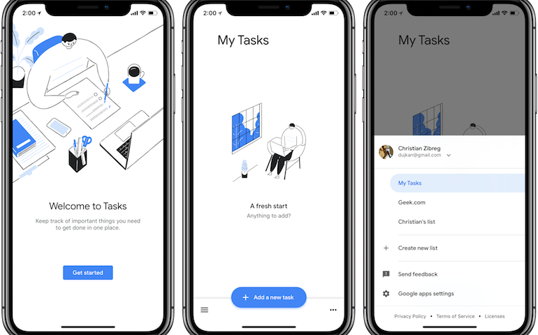 Google rilascia l'app Tasks anche su iPhone e iPad