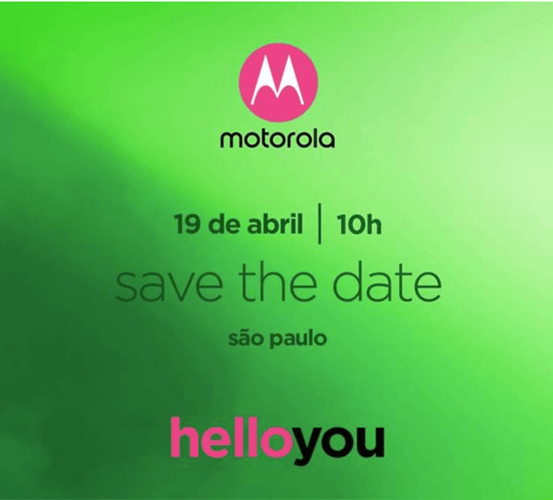Motorola Moto G6 save the date