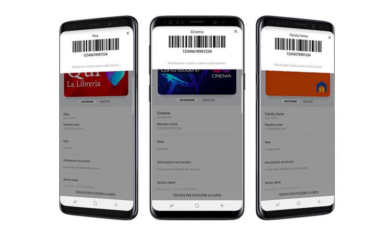 Samsung Pay permette di registrare anche coupon e carte fedeltà