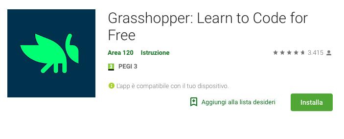 Grasshopper è il modo migliore per iniziare a programmare per Android