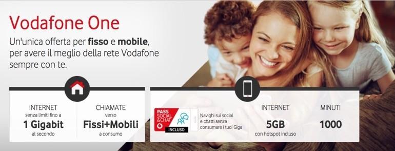 Vodafone One, tutto sul piano convergente fisso-mobile e le ultime novità