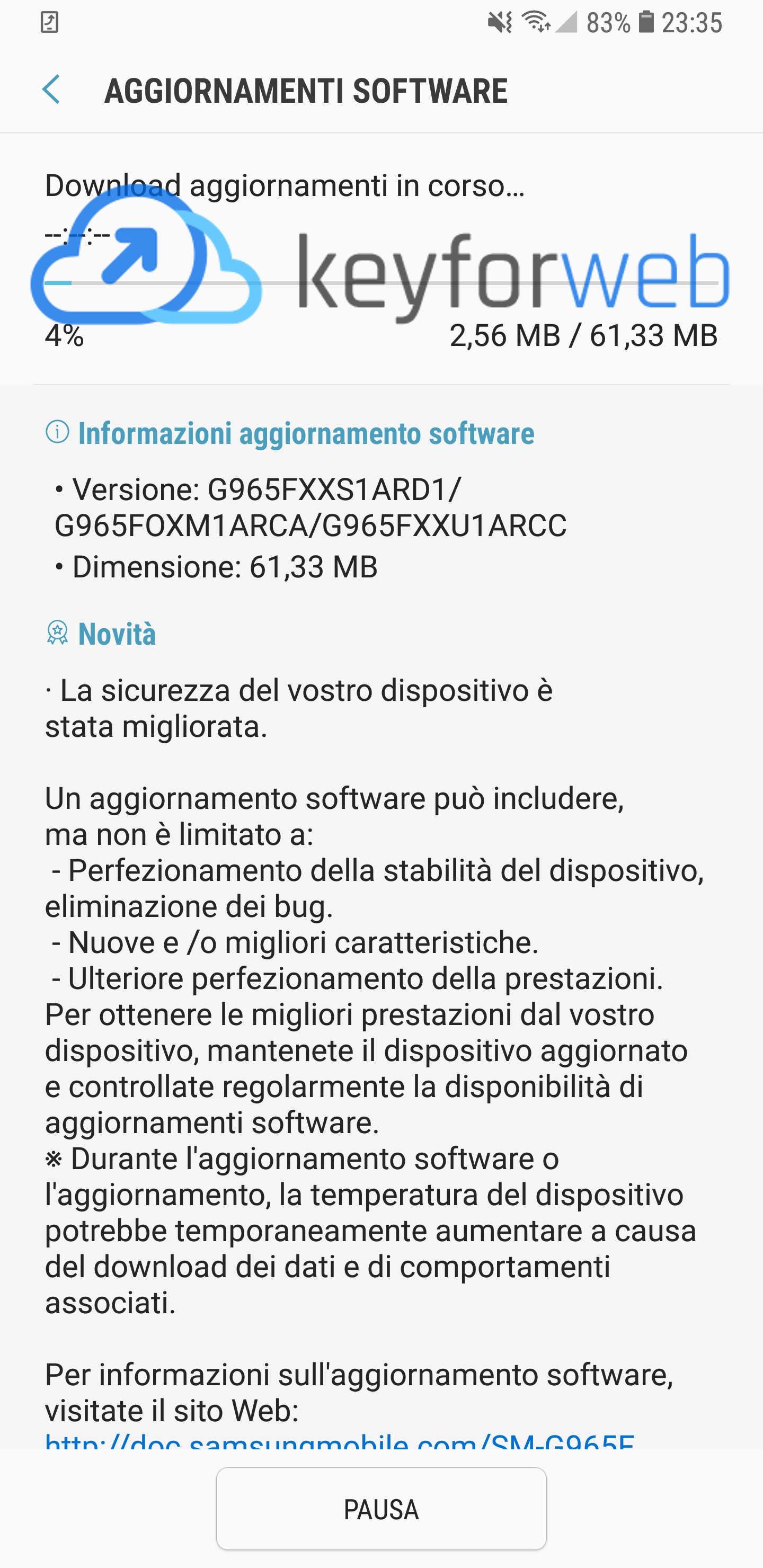 aggiornamento software