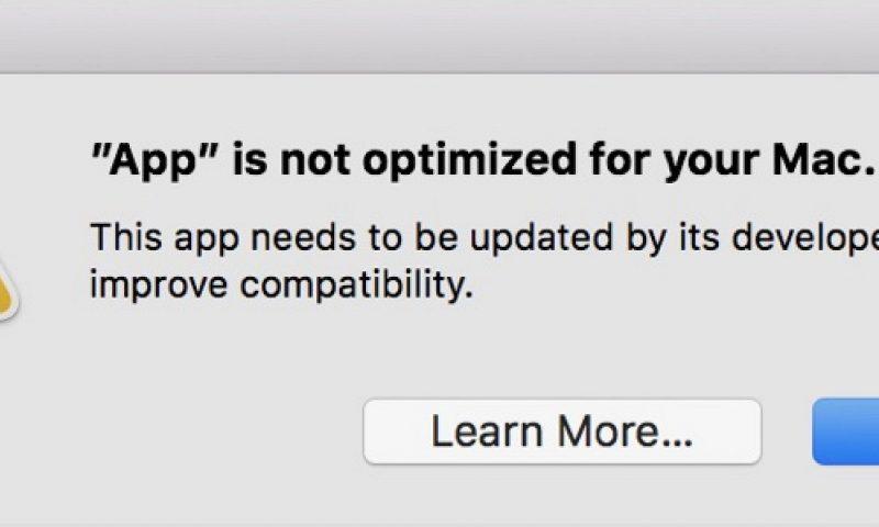 macOS dice addio alle applicazioni a 32 bit