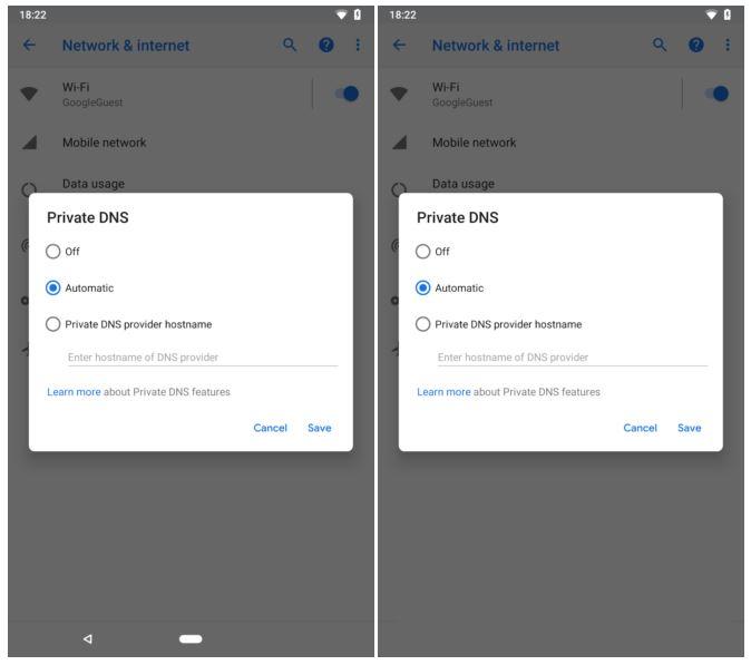 navigation bar Android P