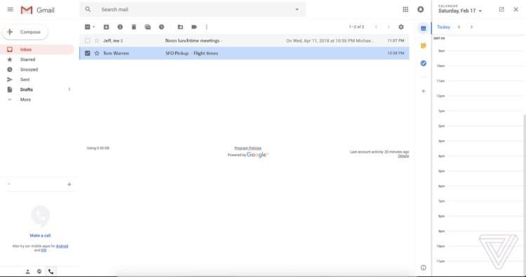 Gmail si converte al Material Design