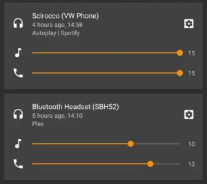 volume Bluetooth su Android P