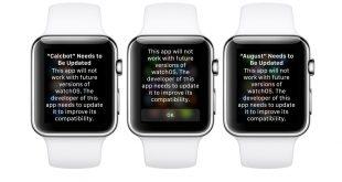 """Alcune app per Apple Watch sono """"troppo vecchie"""""""