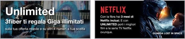 3Fiber e Netflix incluso