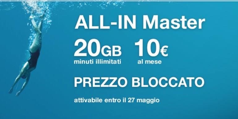 ALL-IN Master e ALL-In Power: prezzo bloccato per le offerte di Tre Italia