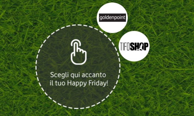 Vodafone Happy regala il 20% di sconto su TifoShop e Goldenpoint