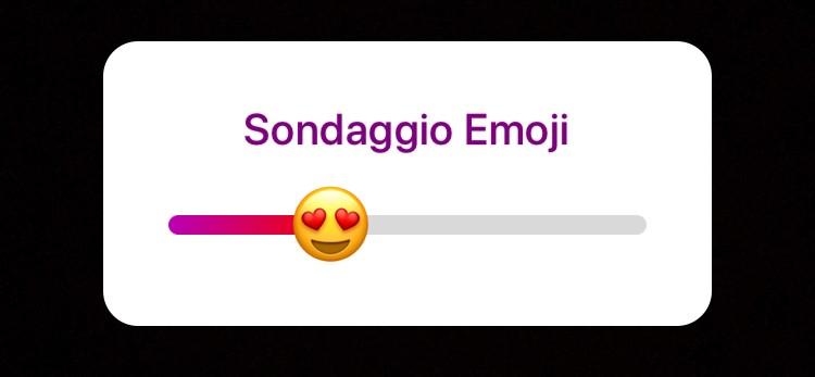 Su Instagram arriva il nuovo sondaggio Emoji