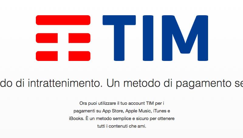 Anche TIM consente l'acquisto di contenuti su App Store