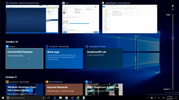 Come disattivare la Timeline di Windows 10 1803 e ripristinare il Flip 3D