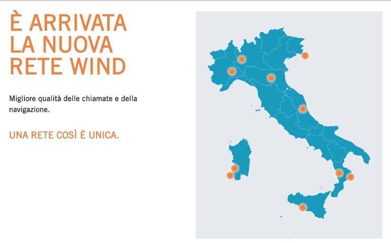 Wind-tre: arriva la mappa della rete unica