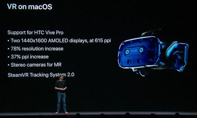 macOS Mojave includerà supporto Plug & Play per il visore HTC Vive Pro