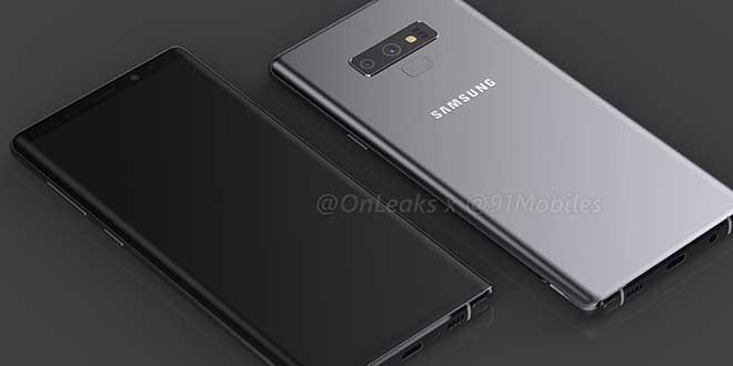 Galaxy Note 9, ecco il design e dimensioni definitive