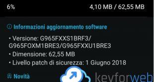 Samsung Galaxy S9 si aggiorna con le patch di sicurezza di giugno