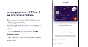 HYPE consente di effettuare pagamenti NFC anche su Android