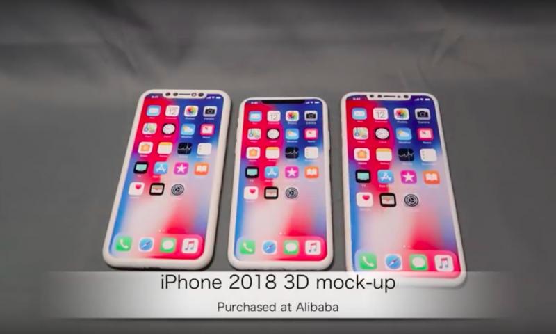 Ecco i primi mockup dei tre iPhone del 2018
