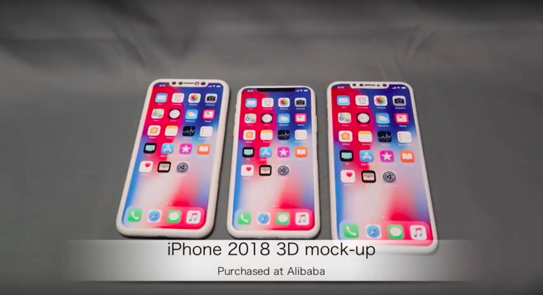 mockup degli iPhone del 2018