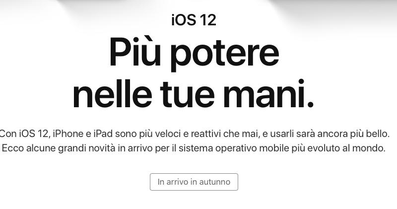 Apple traduce in italiano la pagina web dedicata alle novità di iOS 12