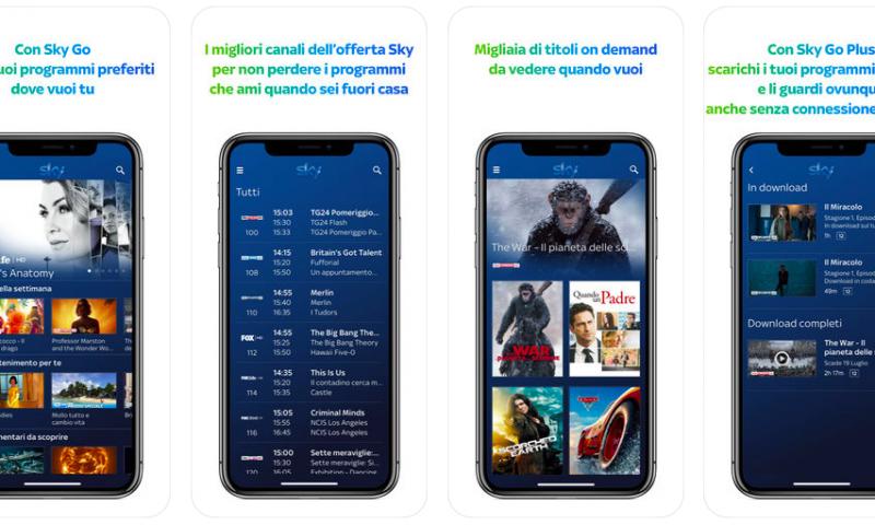 Sky Go si aggiorna su iOS, arriva una nuova interfaccia