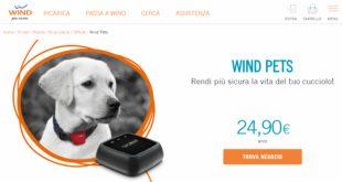 Wind Pets Pack è l'offerta dedicata ai nostri amici a 4 zampe