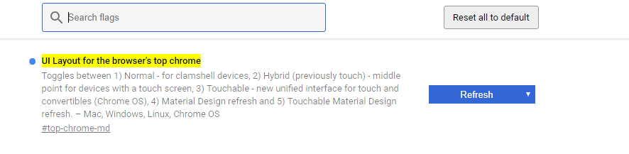 Chrome Material Design