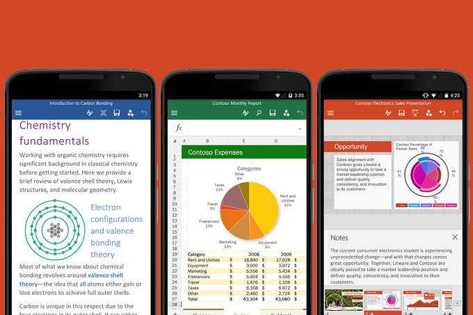 Office per Android e iOS si aggiorna con nuove funzioni