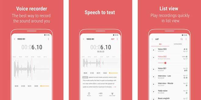 Samsung Registratore Vocale ora converte in testo qualsiasi memo vocale