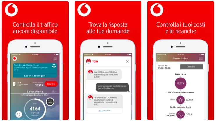 L'app My Vodafone cambia look su iOS e Android