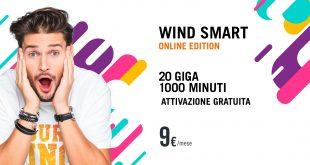 Wind Smart Online Edition: offerta valida fino al 21 luglio con 20GB e mille minuti