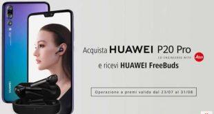 Offerta a tempo: acquista un Huawei P20 PRO o un Mate 10 PRO e ricevi un bellissimo regalo