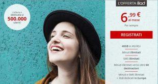 Offerta Iliad che sgretola la concorrenza: tutto illimitato e 40GB a 6,99 euro/mese