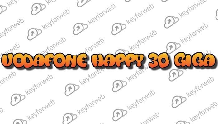 Vodafone Happy 30 Giga in regalo, ma poi si rinnova a 5€ al mese