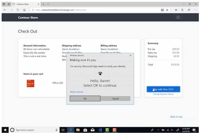 Microsoft Edge si aggiorna con il supporto biometrico