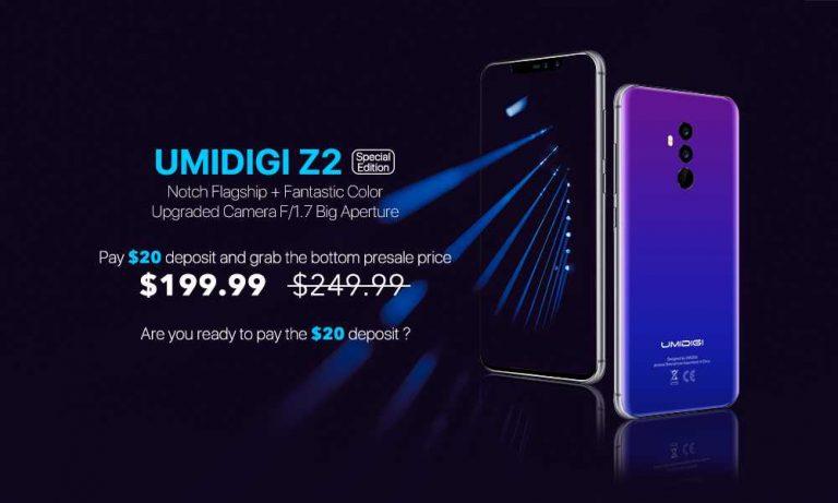 UMIDIGI Z2 Special Edition apre ufficialmente le prevendite su AliExpress