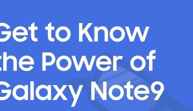 Samsung Galaxy Note 9, nessun segreto grazie a infografiche e video