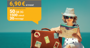 Offerta Kena Summer: 1500 minuti, 30 SMS e 50GB a 6,90 euro al mese