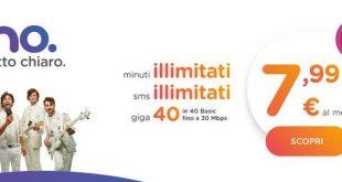ho. mobile buona la prima. Parte oggi la seconda offerta 40 Giga, minuti e sms illimitati a 7,99 euro al mese