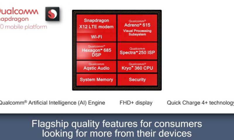 Qualcomm presenta lo Snapdragon 670, pronto per l'intelligenza artificiale