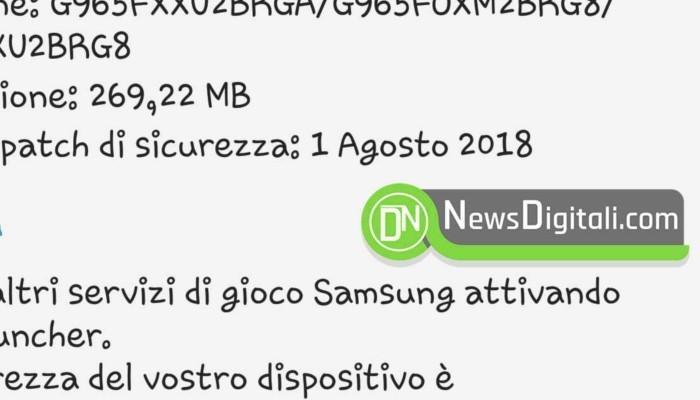 Samsung Galaxy S9 recupera terreno aggiornandosi con le patch di sicurezza di agosto 2018