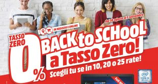Nuovo volantino Mediaworld: ancora Back to School e ancora tutto a tasso zero