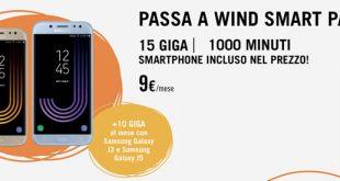 Con Wind Smart Pack arrivano 1.000 minuti, 15 GB e smartphone incluso a partire da 9€ al mese