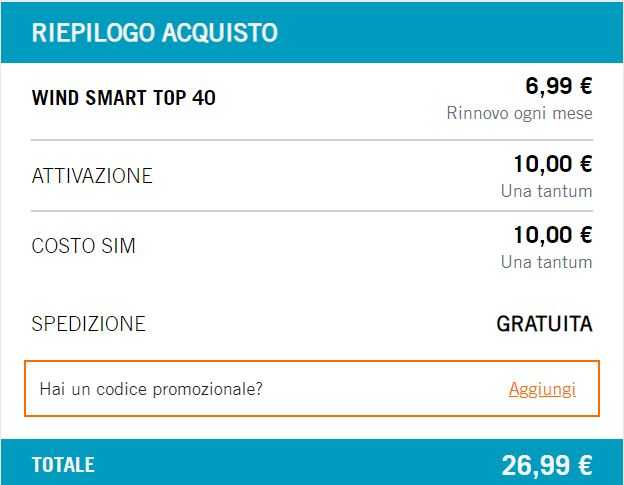 Wind smart top 40 riepilogo