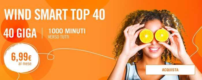 Confermata finalmente la Wind Smart Top 40, solo 5 giorni per attivarla