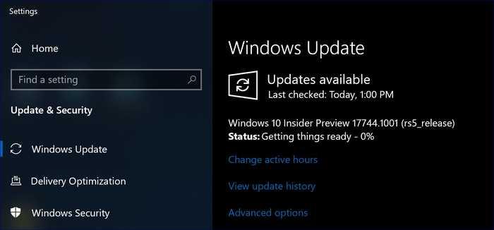 Windows 10 Redstone 5, rilasciata nel Fast Ring la Build 17744 per gli insider