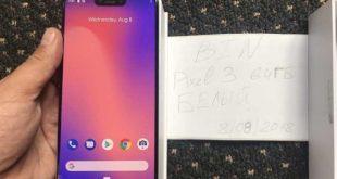 Google Pixel 3 XL, trapelato da un blogger Ucraino con un piccolo unboxing