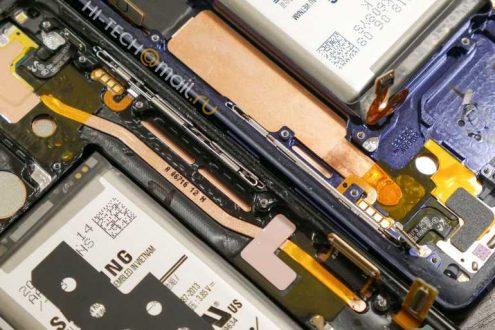 Samsung Galaxy Note 9, primo tear down mostra il sistema di raffreddamento ad acqua