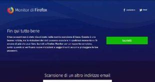 Firefox Minitor: verifica se i tuoi account sono stati compromessi